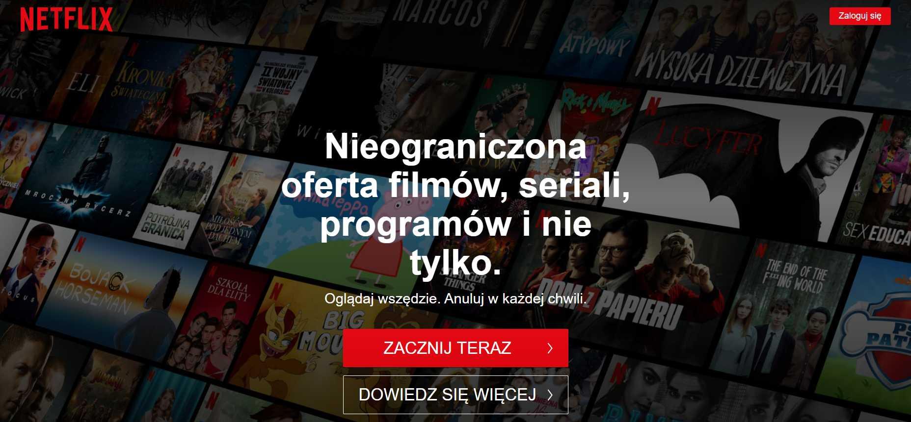 Netflix za darmo okres próbny
